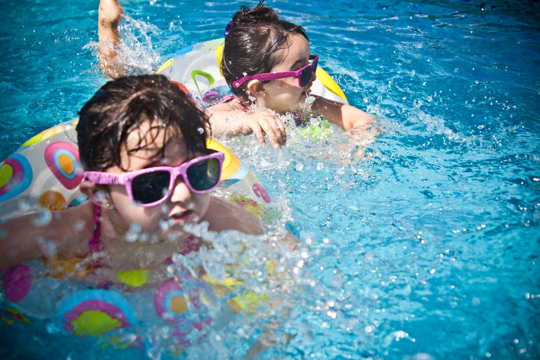 sunglasses girl swimming pool swimming